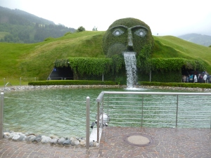 The entrance to the Swarovski crystal factory in Wattens. Not your regular museum - think more Cirque de Soleil